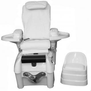 1476 SPA Fußpflegestuhl mit Massage / Sitz weiss - Vorschau 2