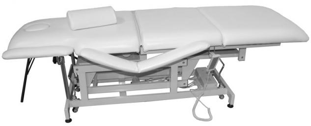 1600 elektrische Behandlungsliege 3-teilig weiß - Vorschau 1