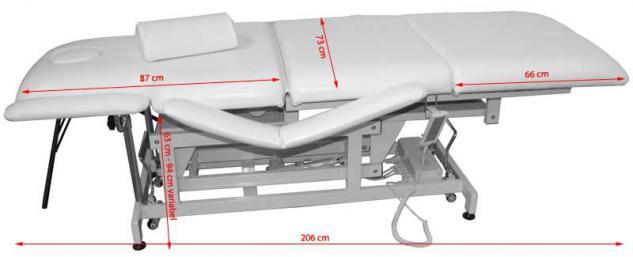 1600 elektrische Behandlungsliege 3-teilig weiß - Vorschau 2