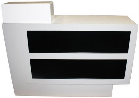 1918 Rezeptionstresen Schleiflack weiß / Front schwarz - Vorschau 1