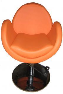 EINZELSTÜCK 1159 Friseurstuhl Figaro TORINO orange B1 0005