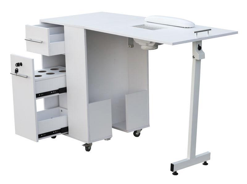 2066 raumspar manik rtisch mit absaugung wei tischplatte. Black Bedroom Furniture Sets. Home Design Ideas