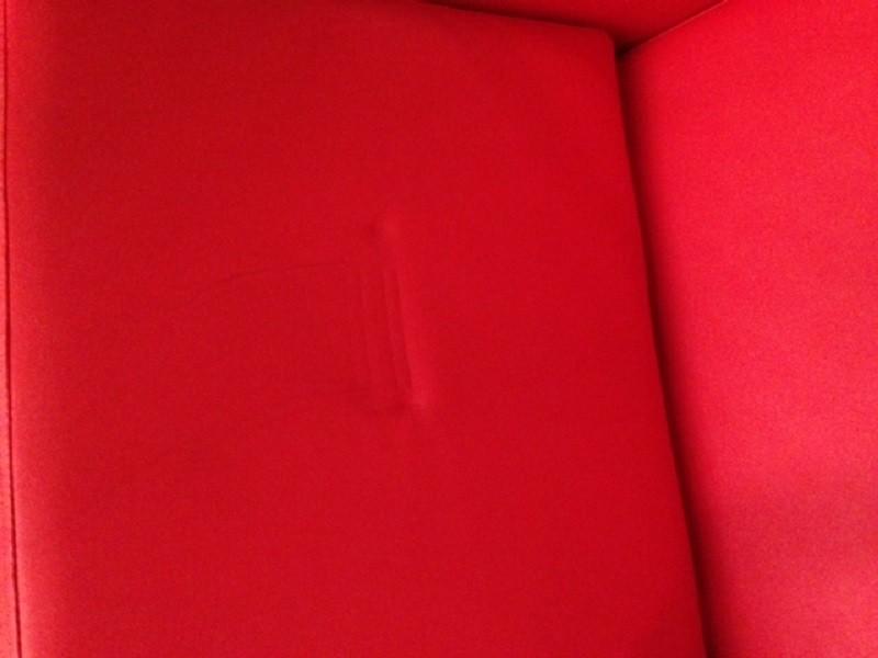 Einzelstück 1147 Friseurstuhl Figaro Syracus Rot C1 0786