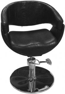 EINZELSTÜCK 1875 Friseurstuhl Figaro ASCOLI schwarz B1 0904