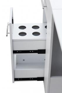 2066 Raumspar-Manikürtisch mit Absaugung weiß, Tischplatte klappbar - Vorschau 3