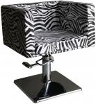 EINZELSTÜCK 1374 Friseurstuhl Figaro MASSA zebra B1 0209