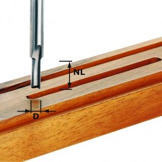 FESTOOL Nutfräser HW Schaft 8 mm Voll-Hartmetall - Verschiedene Durchmesser
