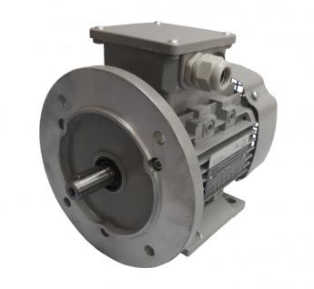 Drehstrommotor 0, 09 kW - 1500 U/min - B3B5 - 230/400V