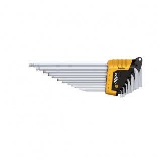 Wiha Sechskant-Kugelkopf Stiftschlüsselsatz im ErgoStar Halter - Mattverchromt, 13-tlg. Zoll-Ausführ