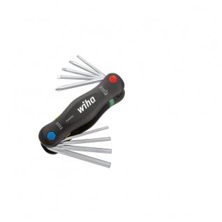 Wiha Gemischt bestückter Klapphalter PocketStar® - 9-tlg.SB-Version mit Eurolochaufhänger