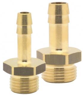 Elmag - Schlauchtülle mit Außengewinde AG Ø 1/4 Zoll, Ø 6 mm oder 9 mm, Messing