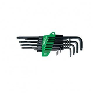 Wiha TORX®-Stiftschlüsselsatz im ProStar Halter - Brüniert, 13-tlg.