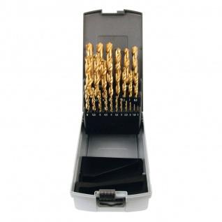 Elmag HSS-Spiralbohrerkassette 25-teilig, 1-13mm, TiN-beschichtet