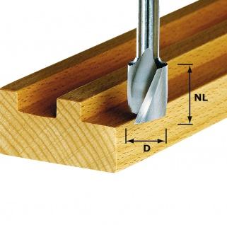 FESTOOL Spiralnutfräser HW Schaft 8 mm Vollhartmetall - Verschiedene Durchmesser