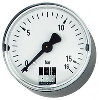 "Schneider - MM-W 50 1/4"" - Standard-Manometer waagerecht"