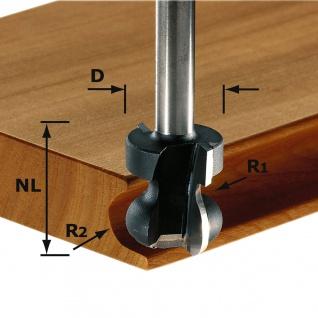 FESTOOL Griffleistenfräser HW Schaft 8 mm HW S8 D22/16/R2, 5+6 - 491140