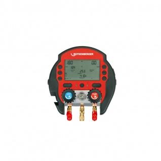 ROTHENBERGER Digitale Monteurhilfe ROCOOL 600 Set mit 2 Temperaturklemmen, Red Box, Data Viewer Soft