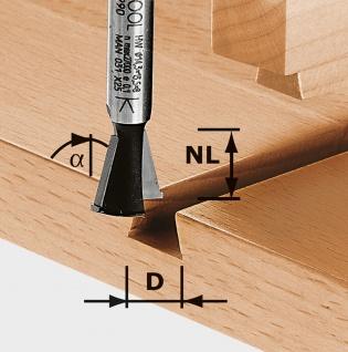 FESTOOL Grat-/Zinkenfräser HW Schaft 8 mm HW S8 D14, 3/13, 5/15 - 490990