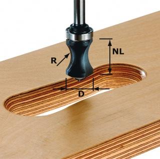 FESTOOL Griffmuldenfräser HW Schaft 8 mm HW S8 R16/NL32 - 491033