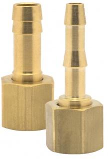Elmag - Schlauchtülle mit Überwurfmutter IG Ø 1/4 Zoll, Ø 6 mm oder 9 mm, Messing
