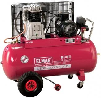 Elmag MEISTER 500/10/50 D - Qualitäts-Druckluftkompressor