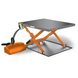 Unicraft SHT 1001 G - Hubtisch mit besonders geringer Bauhöhe und geschlossener Plattform.