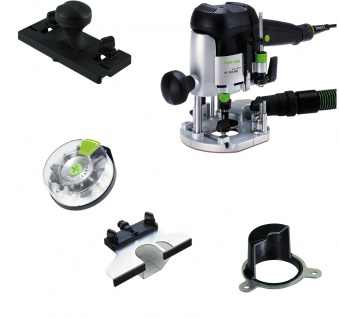 FESTOOL Oberfräse OF 1010 EBQ-Plus + Box-OF-S 8/10x HW inkl. Systainer - 574383