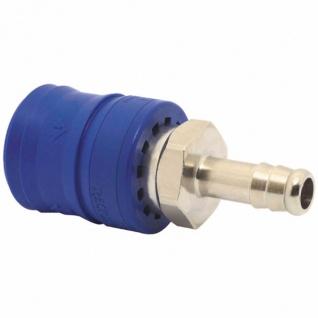 Elmag - Sicherheits-Entlüftungskupplung mit Schlauchtülle SEK S Ø 6 mm oder 9 mm, vernickelt