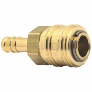 Elmag - Kupplung mit Schlauchtülle Ø 6 mm, Ø 8 mm, Ø 9 mm, Ø 10 mm oder Ø 13 mm, Messing