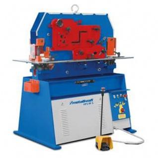 Metallkraft HPS 60S - Kominierte hydraulische Profilstahlschere / Lochstanze