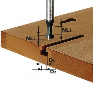 FESTOOL T-Nutfräser HW Schaft 8 mm HW S8 D10, 5/NL13 - 491035