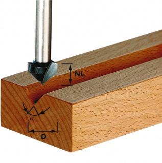 FESTOOL V-Nutfräser HW Schaft 8 mm HW S8 D14/7/90° - 490999