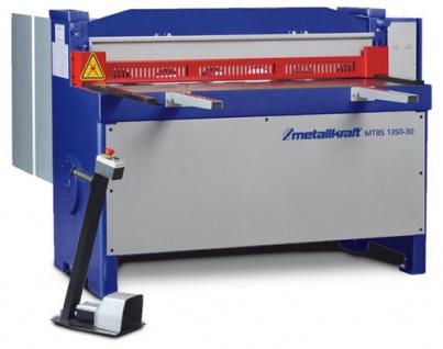 Metallkraft MTBS 1350-30 - motorische Hochleistungs-Tafelblechschere mit Fußbedienung in schwerer In - Vorschau