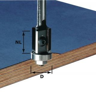 FESTOOL Wendeplatten-Bündigfräser HW Schaft 8 mm HW S8 D19/20WM Z2