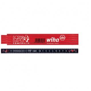 Wiha Longlife® Plus Gliedermaßstab, 2 m, metrisch, 10 Glieder - mit Metallenden