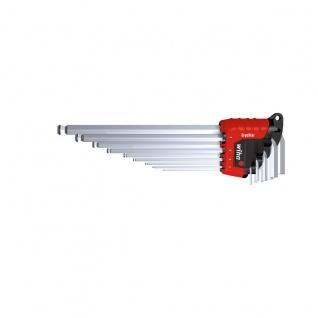 Wiha Sechskant-Kugelkopf Stiftschlüsselsatz im ErgoStar Halter - Mit MagicRing®, mattverchromt, 9-tl
