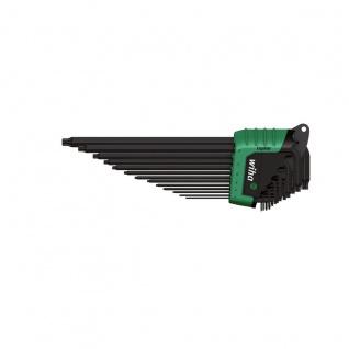 Wiha TORX® MagicSpring® Stiftschlüsselsatz im ErgoStar Halter - Brüniert, 13-tlg.