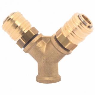 Elmag - 2-fach-Verteiler IG Ø 3/8 Zoll oder 1/2 Zoll, Messing