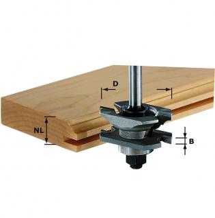 FESTOOL Profil-Nutfräser HW Schaft 8 mm HW S8 D46 x D12-NT - 490645
