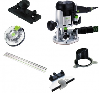 FESTOOL Oberfräse OF 1010 EBQ-Set + Box-OF-S 8/10x HW inkl. Systainer - 574384
