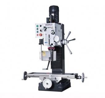 OPTIMUM MB4 - Universelle Präzisions-Bohr-Fräsmaschine mit 12 schaltbaren Geschwindigkeiten