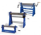 Metallkraft RBM 1050 - 22 - manuell betriebene Rundbiegemaschine mit asymmetrischem 3 - Walzensystem