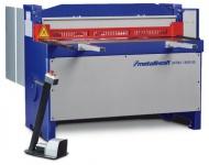 Metallkraft MTBS 2550-25 - motorische Hochleistungs-Tafelblechschere mit Fußbedienung in schwerer In