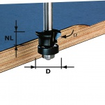 FESTOOL Fase-Bündigfräser HW Schaft 8 mm HW S8 D24/0° +45° - 491026