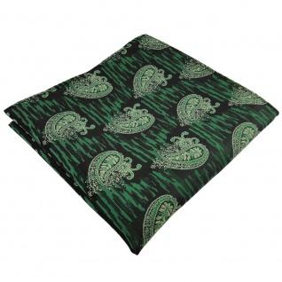 TigerTie Einstecktuch grün moosgrün schwarz parsley-gemustert - Tuch Polyester