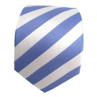 TigerTie Designer Krawatte blau babyblau himmelblau weiss gestreift - Binder Tie - Vorschau 2