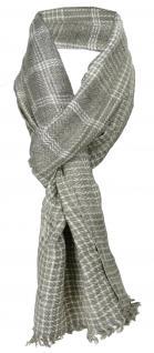 TigerTie Designer Schal in grau weiss gemustert - Gr. 180 x 50 cm