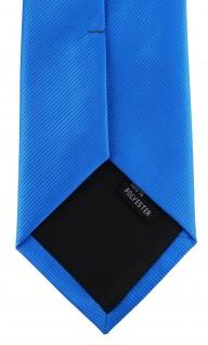 XXL TigerTie Security Sicherheits Krawatte in himmelblau hellblau einfarbig Uni - Vorschau 4