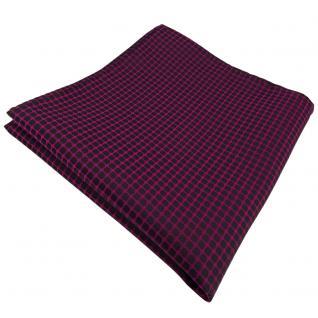 schönes Einstecktuch in magenta fuchsia schwarz gemustert - Tuch 100% Polyester
