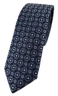 schmale TigerTie Designer Krawatte in anthrazit rosa silber schwarz gemustert